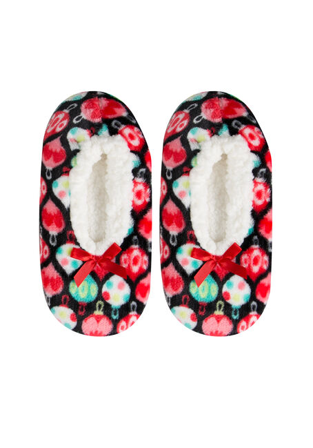 Ladies' Fuzzy Holiday Slippers