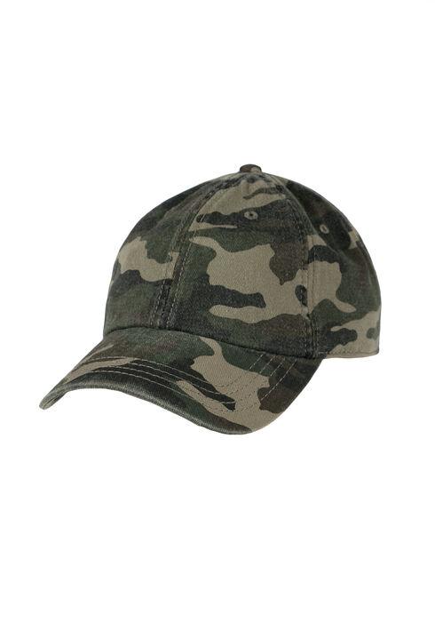 Ladies' Camo Baseball Hat, DARK OLIVE, hi-res