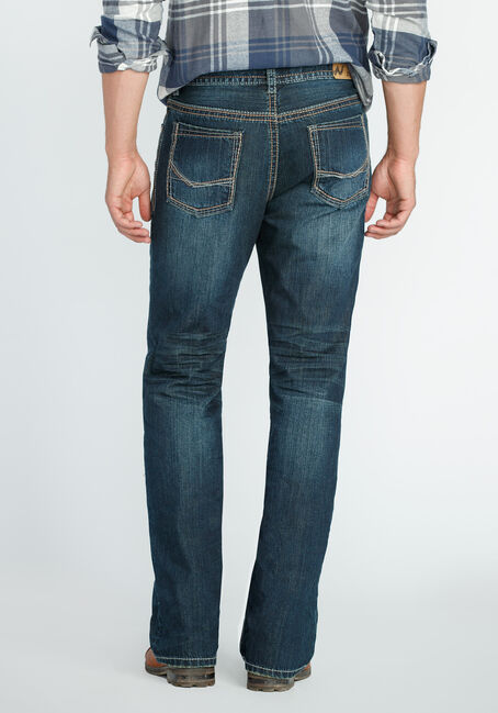 Men's Straight Leg Dark Vintage Jeans, DARK VINTAGE WASH, hi-res