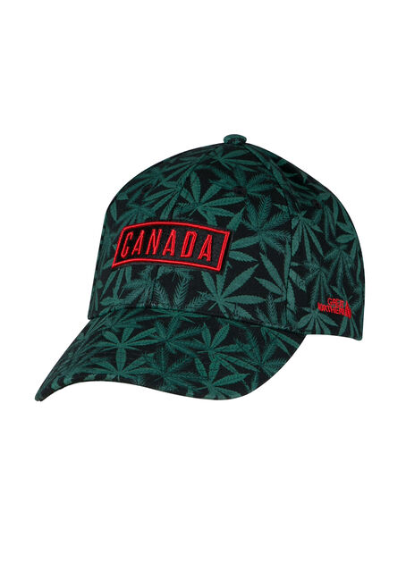 Men's Cannabis Print Baseball Hat