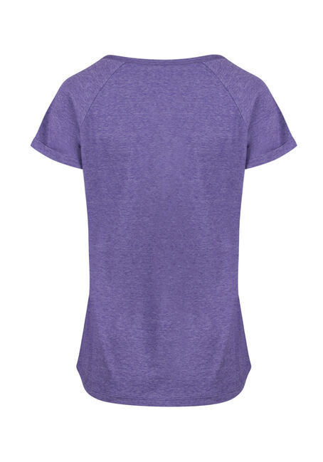 Ladies'  Notch Neck Tee, SD PURPLE, hi-res