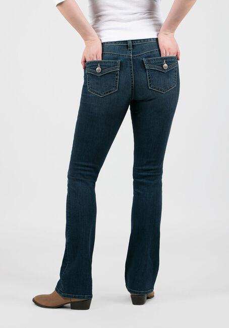 Ladies' Baby Boot Jeans, MEDIUM VINTAGE WASH, hi-res