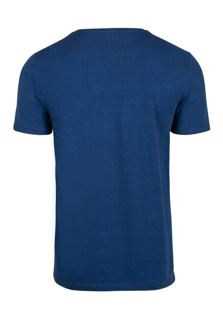 Men's Everyday Mini Stripe V-Neck Tee, ROYAL BLUE, hi-res