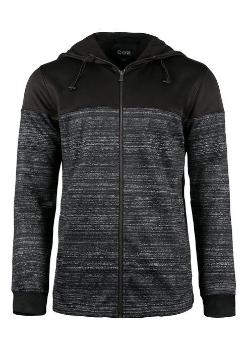 Men's Colour Block Jacket, BLACK, hi-res