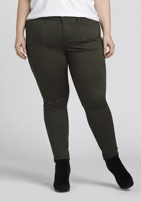 Ladies' Plus Size Skinny Cargo Pants