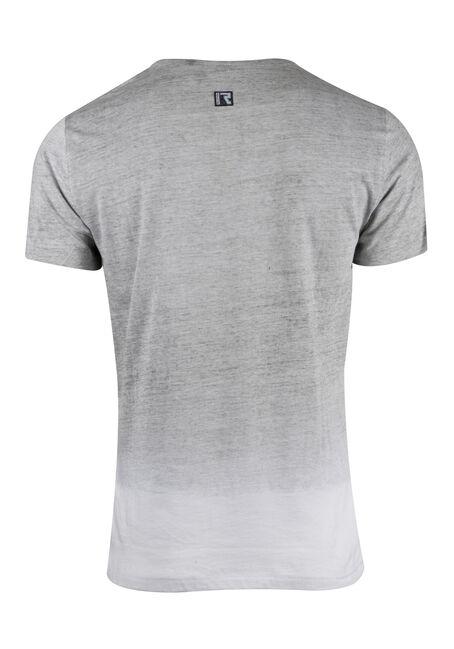 Men's Y-neck Graphic Tee, WHITE, hi-res