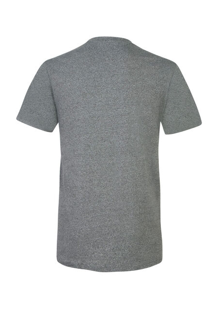 Men's 2-Tone Henley Tee, HEATHER GREY, hi-res