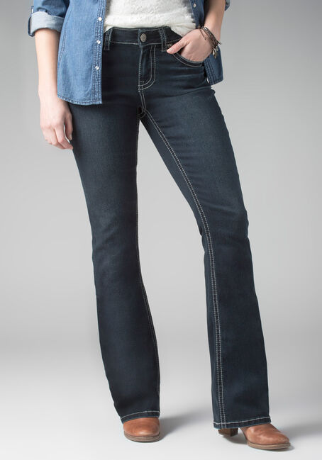 Ladies' Contour Boot Ink Jeans, DARK VINTAGE WASH, hi-res
