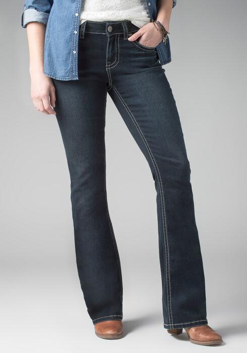 Ladies' Contour Boot Ink Jeans, DARK VINTAGE WASH, hi-res