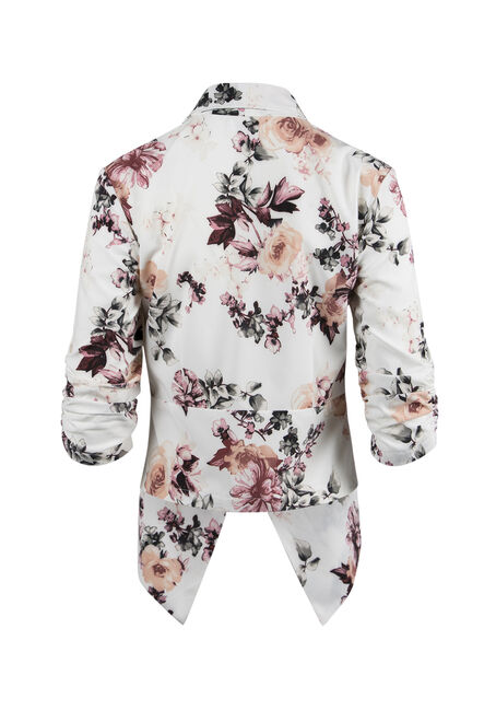 Ladies' Floral Open Blazer, MULTI, hi-res
