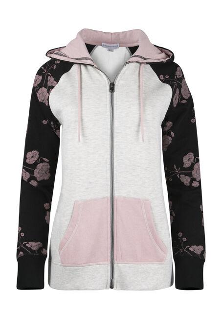Ladies' Floral Zip Hoodie