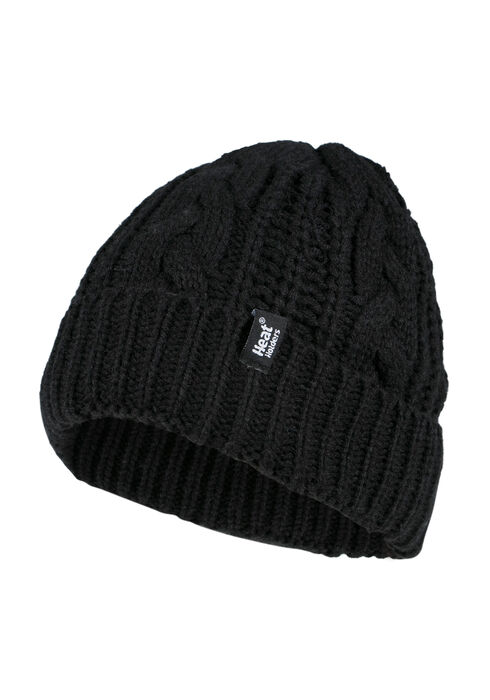 Ladies' Thermal Cuffed Hat, BLACK, hi-res