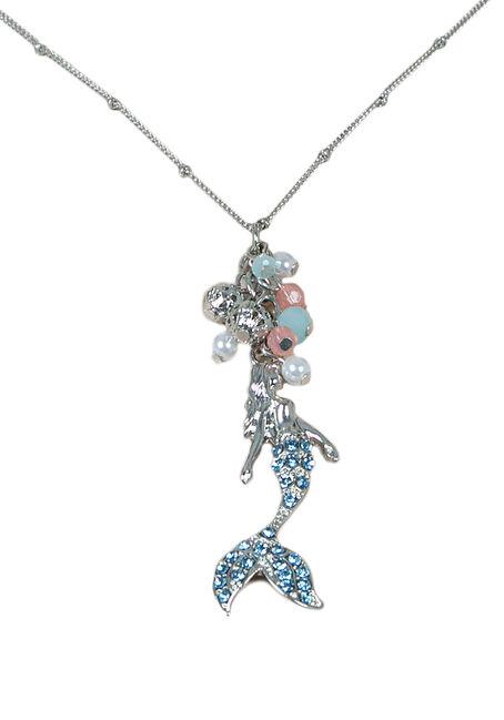 Ladies' Short Mermaid Necklace, SILVER, hi-res