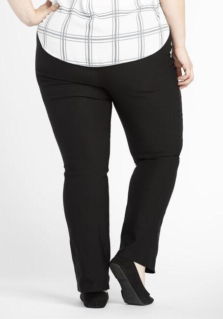 Ladies' Plus Size Slim Boot Dress Pants, BLACK, hi-res