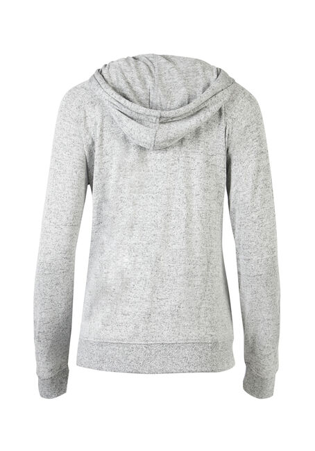 Ladies' Zip Front Hoodie, LIGHT GREY, hi-res
