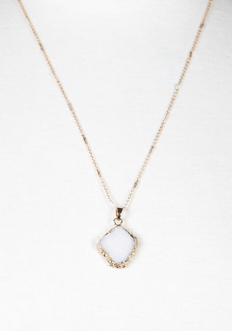 Ladies' Short Sand Dollar Necklace, SILVER, hi-res