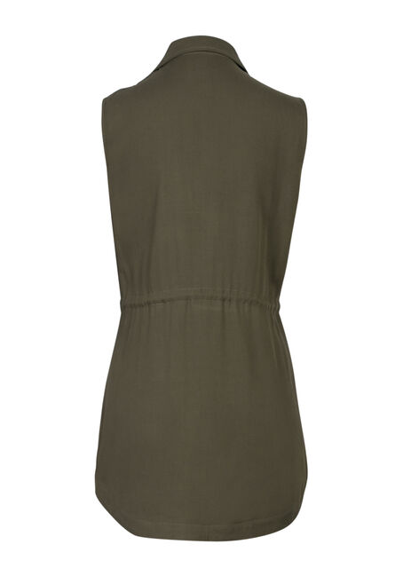 Ladies' Utility Vest, OLIVE, hi-res