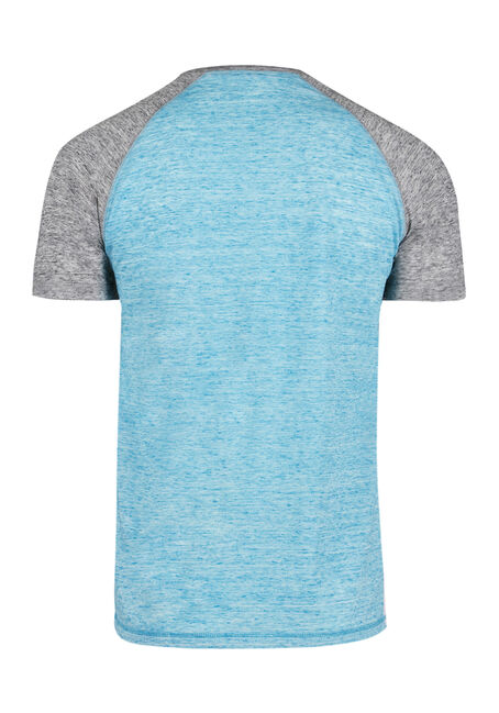 Men's Everyday Raglan Tee, BRIGHT BLUE, hi-res