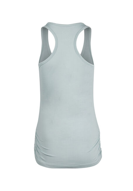Ladies' Super Soft Ruched Tank, MINT, hi-res