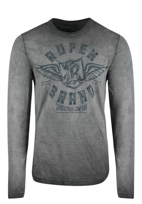 Men's Graphic Tee, CHARCOAL, hi-res