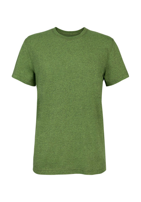 Men's Crew Neck Flecked Tee, LIME, hi-res