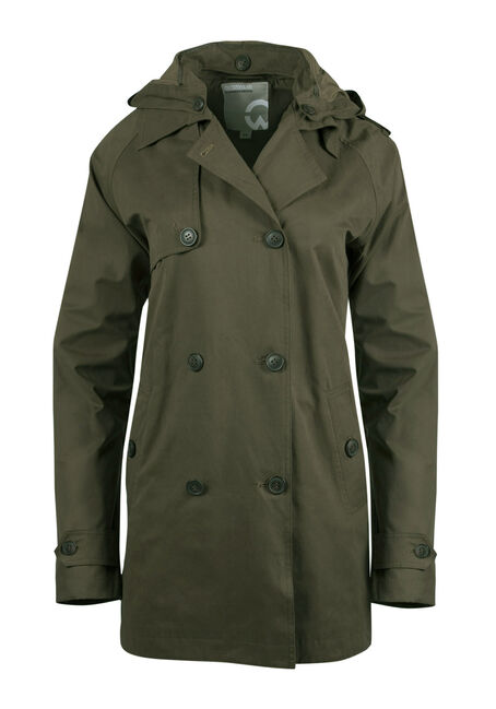Ladies' Hooded Trench Coat