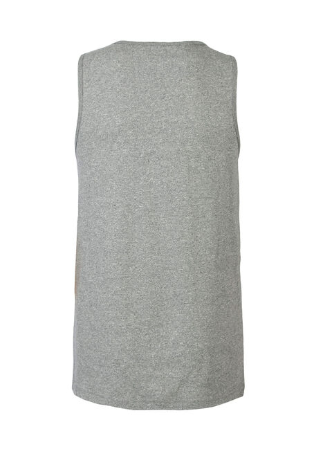 Men's Colour Block Tank, BLACK, hi-res