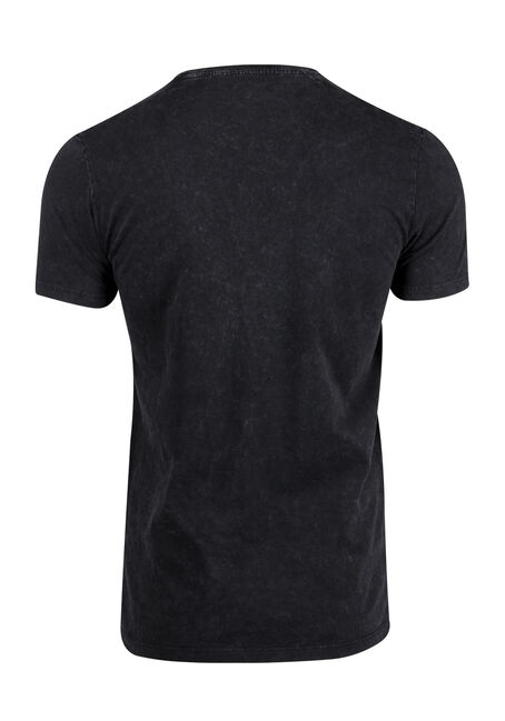 Men's Washed Tee, BLACK, hi-res