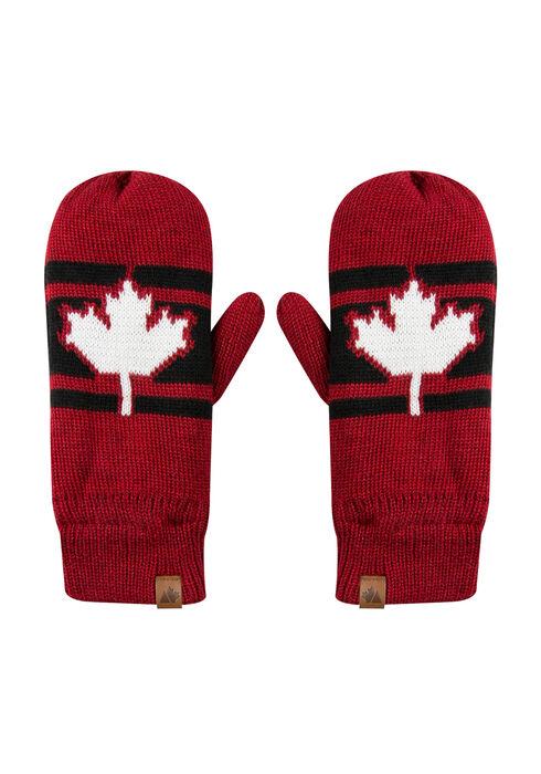 Ladies' Canada Mittens, BLACK, hi-res
