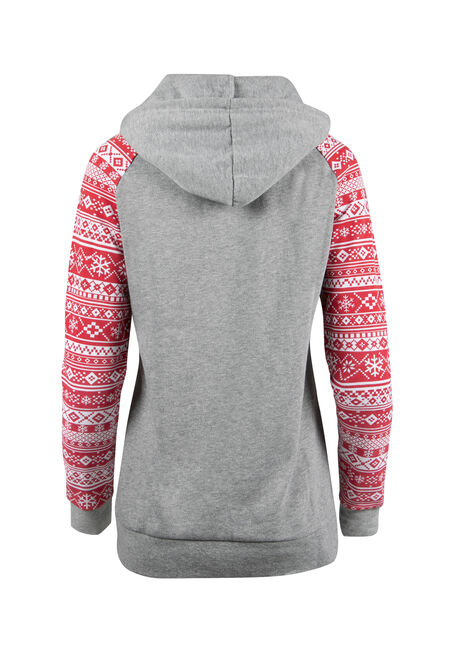 Ladies' Squad Goals Hoodie, RED/ HTHR. GREY, hi-res
