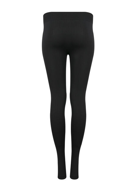 Ladies' Plush Legging, BLACK, hi-res