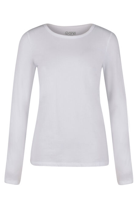 Ladies' Crew Neck Tee, WHITE, hi-res