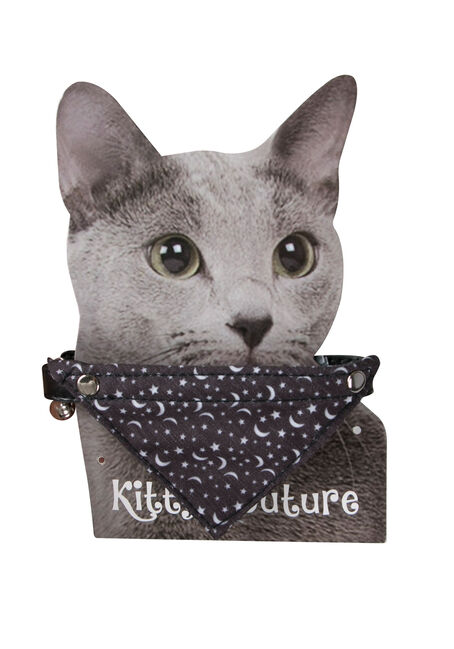 Bandana Pet Collar, BLACK, hi-res