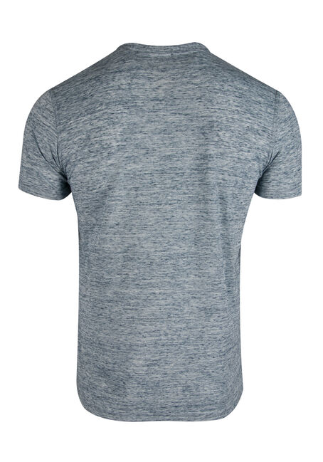 Men's Space Dye Henley, BLUE, hi-res
