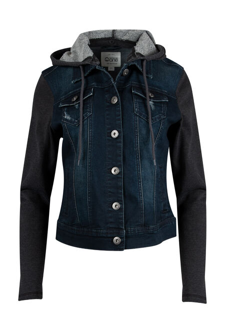 Ladies' Knit Sleeve Jean Jacket