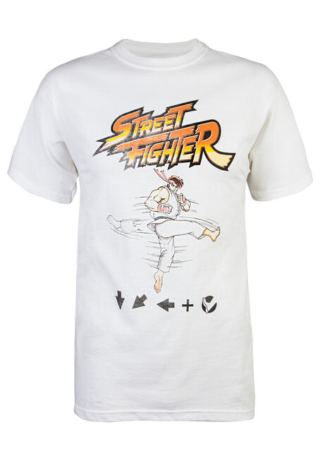 Men's Street Fighter Tee, WHITE, hi-res