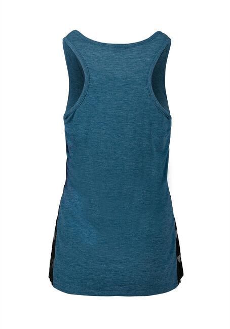 Ladies' Lace Insert Tank, MIRAGE BLUE, hi-res