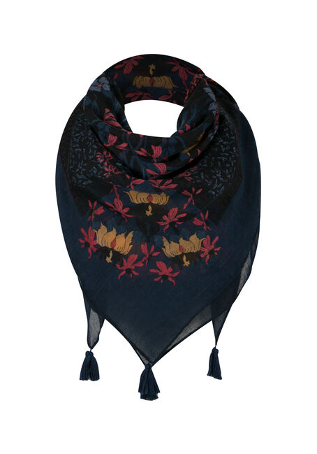 Ladies' Floral Square Scarf