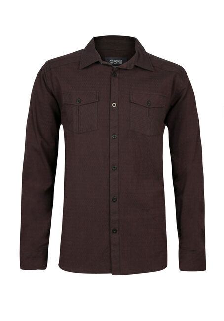 Men's Relaxed Fit Textured Shirt