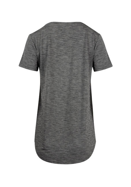 Lds Space Dye V-Neck Tee, CHARCOAL, hi-res