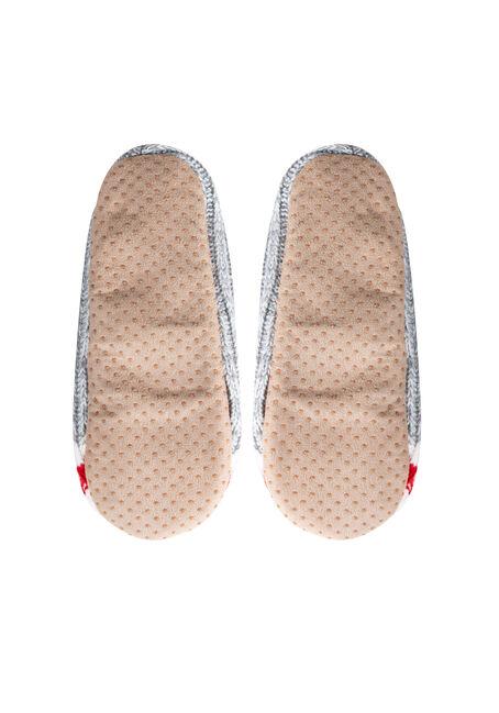 Ladies' Fuzzy Cabin Slippers, GREY, hi-res