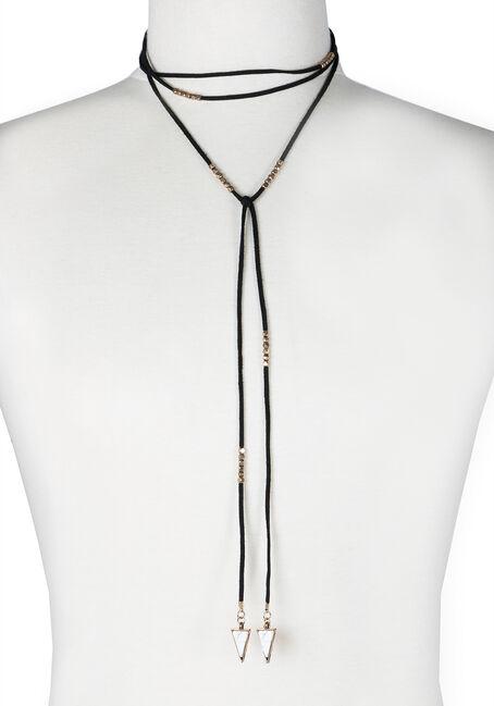 Ladies' Wrap Necklace, BLACK, hi-res
