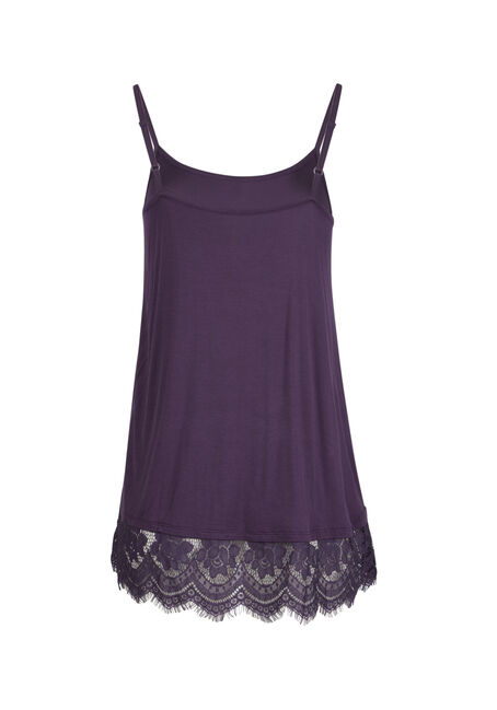 Ladies' Lace Trim Tunic Tank, IRIS, hi-res