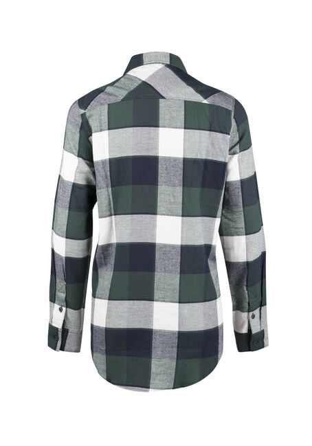 Ladies' Flannel Boyfriend Shirt, JASPER, hi-res