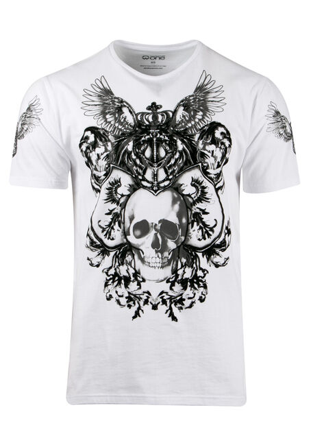 Men's Flocked Skull Tee