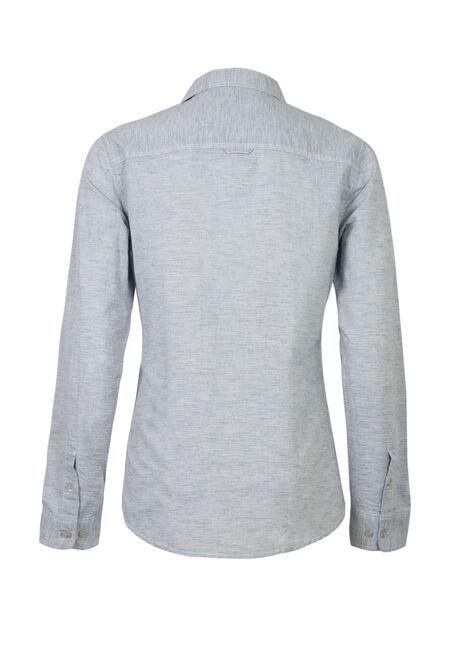 Men's Textured  Linen Shirt, LIGHT BLUE, hi-res