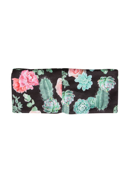 Ladies' Cactus Print Headband, BLACK, hi-res