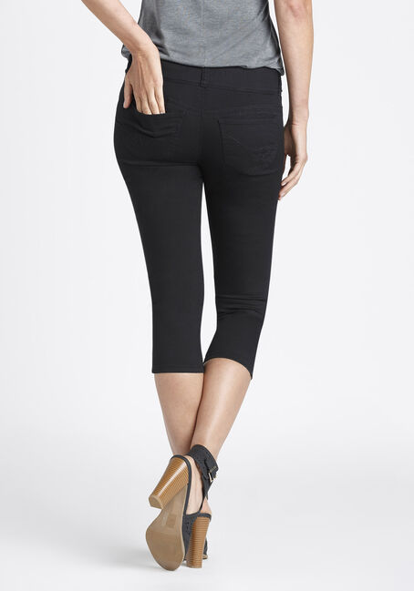 Ladies' Skinny Capri, BLACK, hi-res