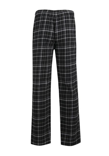 Men's Plaid Lounge Pant, BLACK/GREY, hi-res