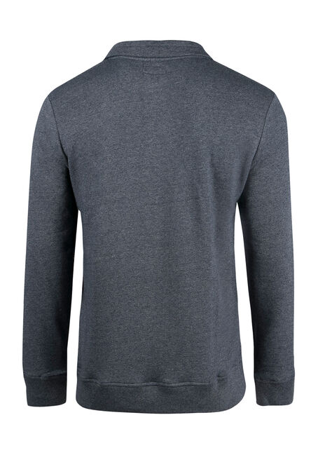 Men's Mock Neck Sweater, NAVY, hi-res